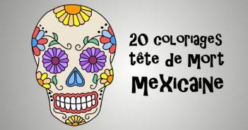 coloriage tête de mort mexicaine
