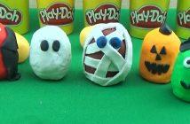 personnages d'halloween en pâte à modeler