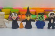 personnages halloween pâte à modeler