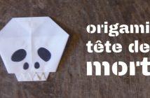 origami tete de mort