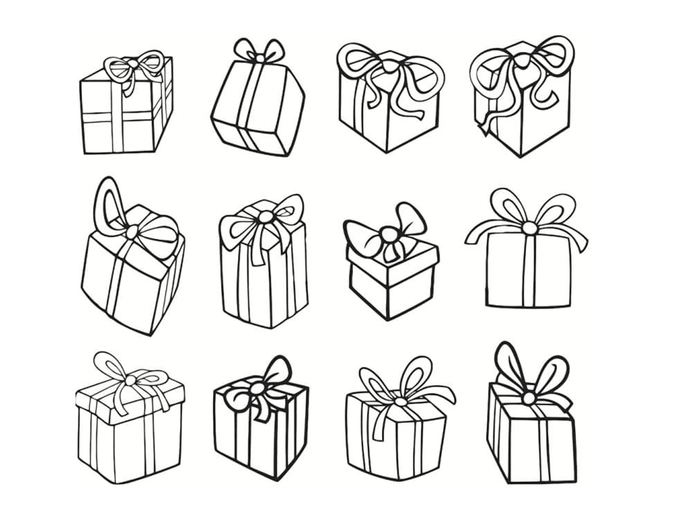 Coloriage Cadeau 30 Modeles A Imprimer Gratuitement