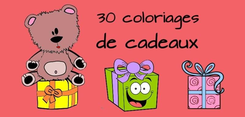 Coloriage cadeau