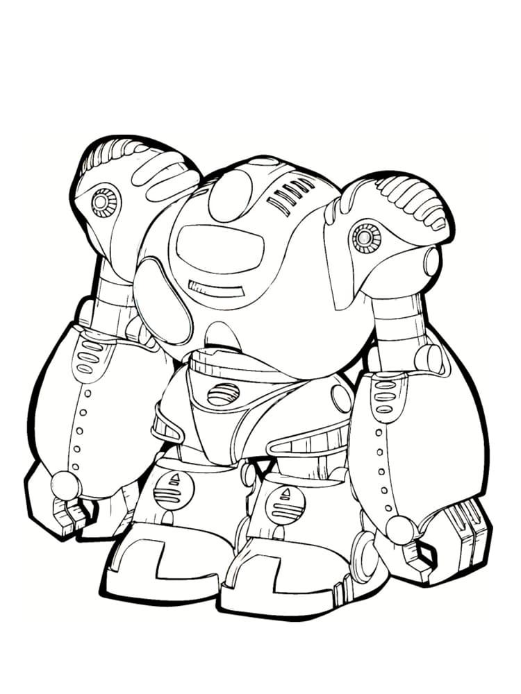Coloriage robot : 30 dessins à imprimer gratuitement
