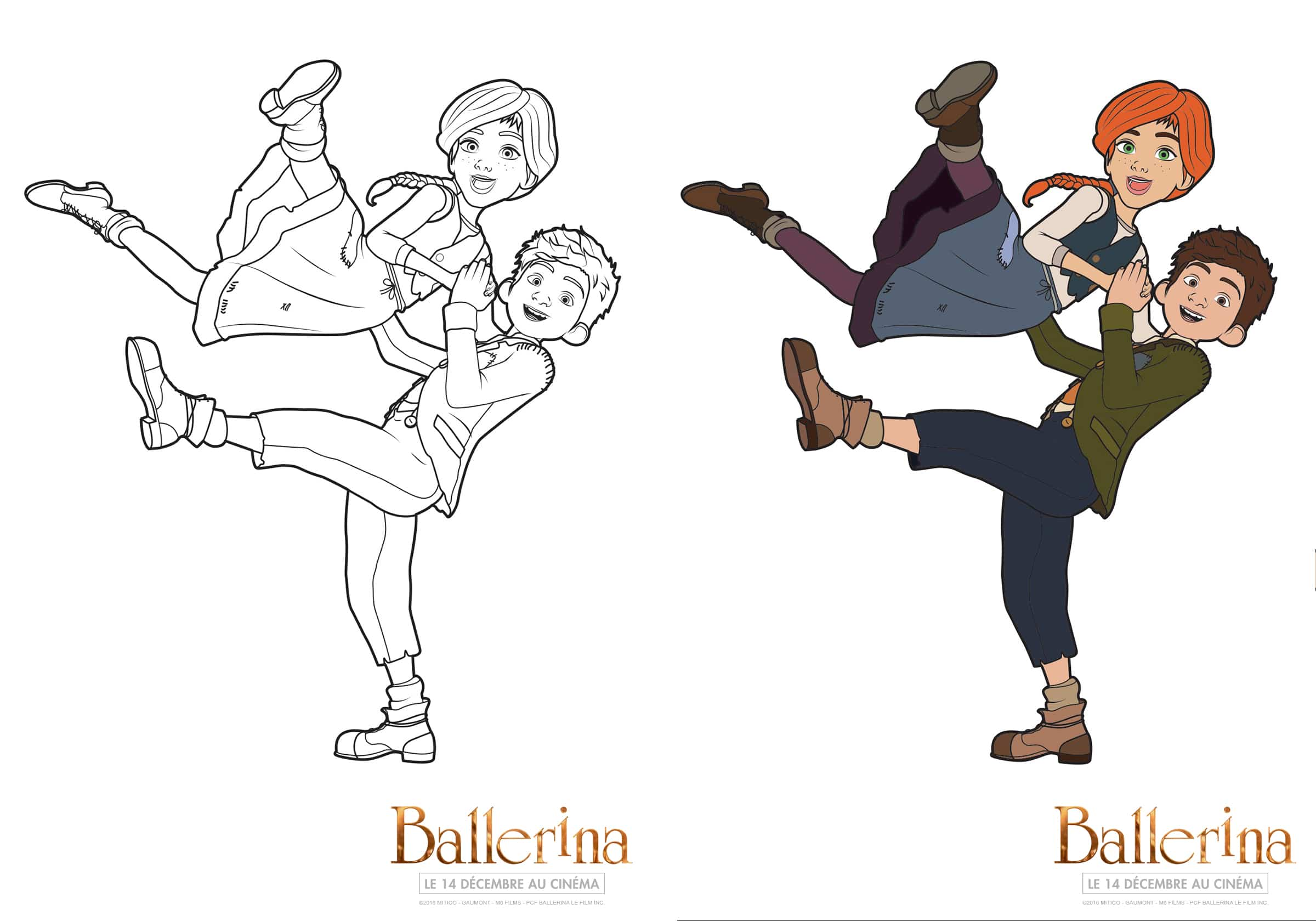 coloriages ballerina