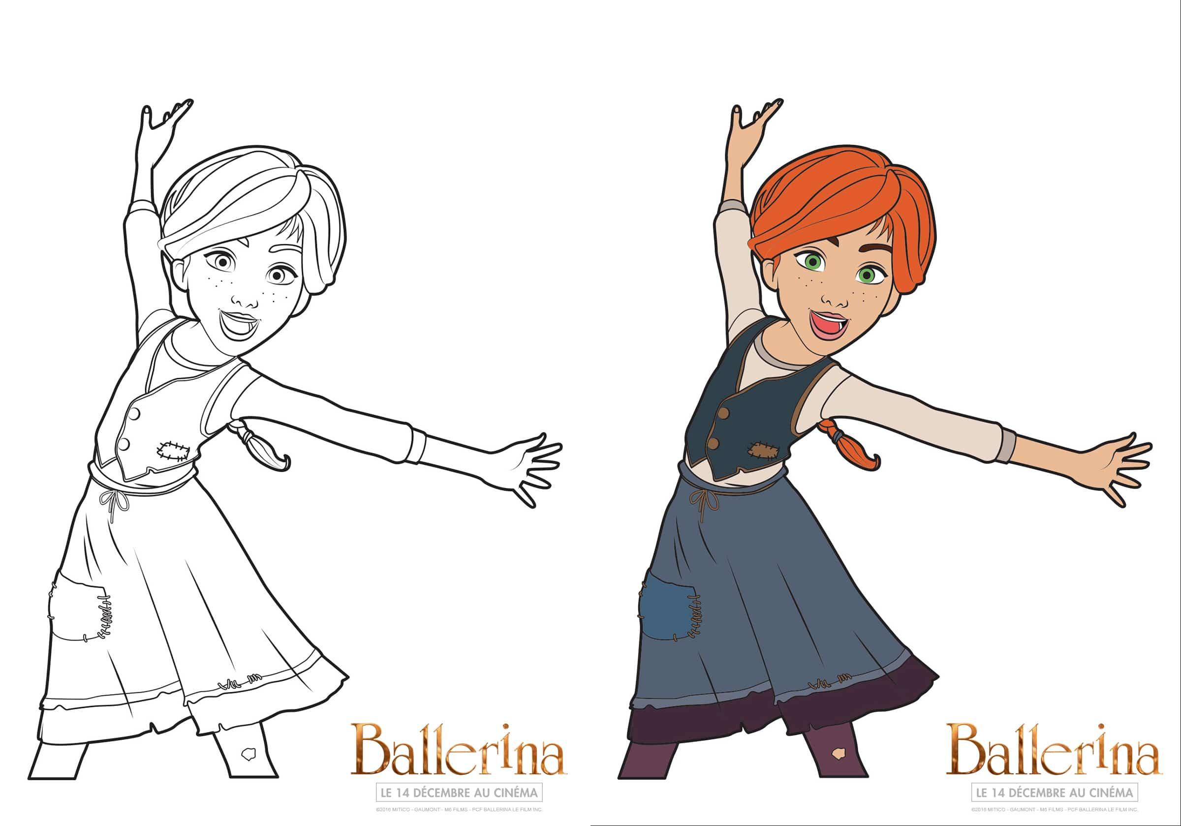 dessin ballerina