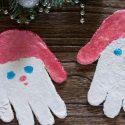 Main Père Noël en pâte à sel