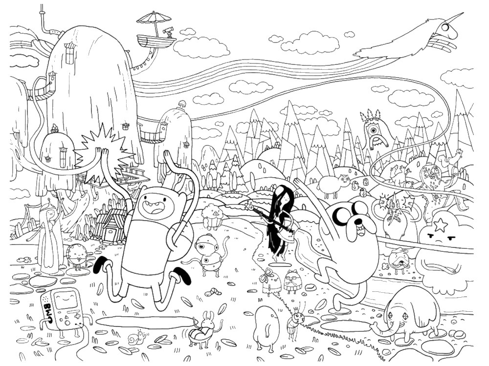 Coloriage Adventure Time 20 Dessins 224 Imprimer