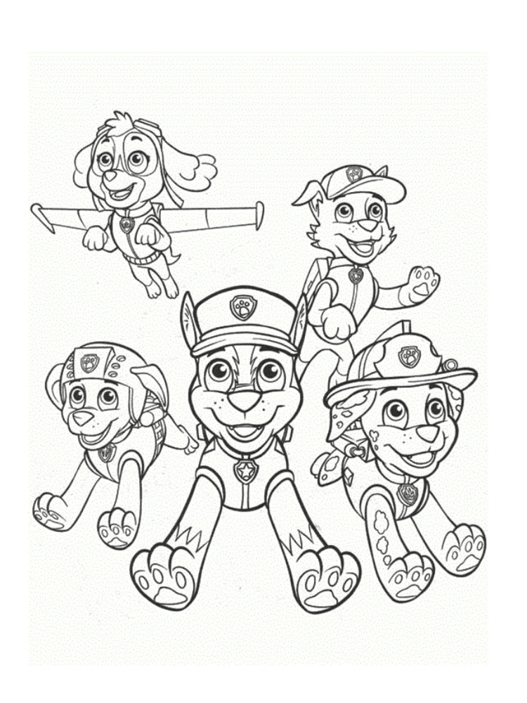 Coloriage pat patrouille 30 dessins imprimer - Patte patrouille ...