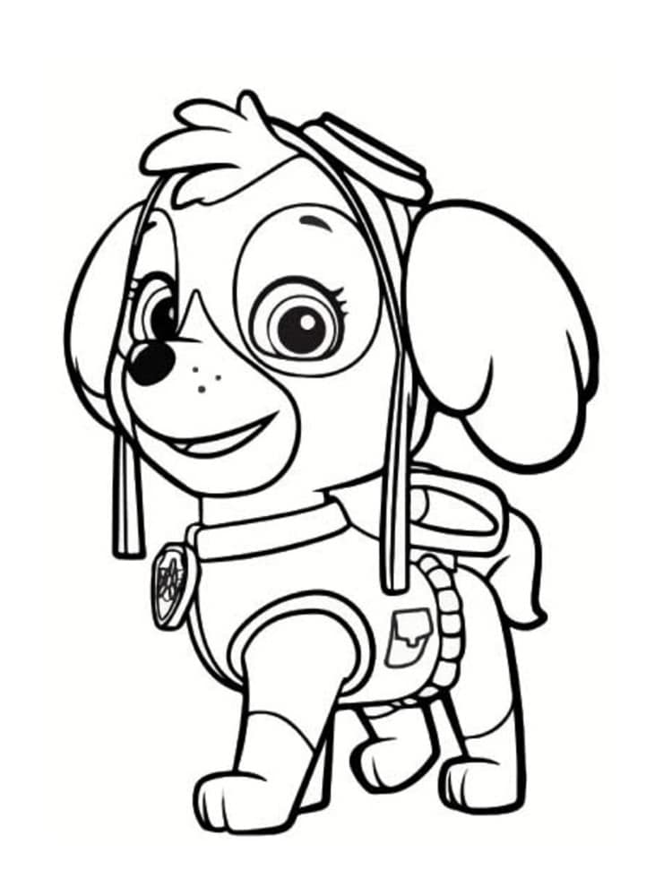Coloriage pat patrouille 30 dessins imprimer - Pat patrouille coloriage ...
