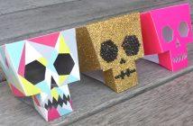 Crâne en papier à imprimer