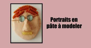 Portraits en pâte à modeler