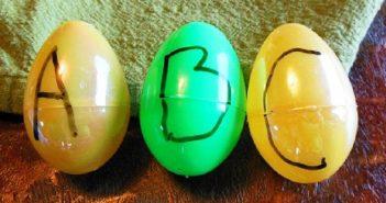 chasse aux œufs de l'alphabet