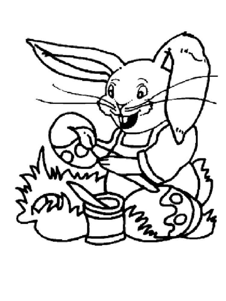 Coloriage lapin de p ques 20 coloriages imprimer gratuitement - Coloriage de chiot a imprimer ...