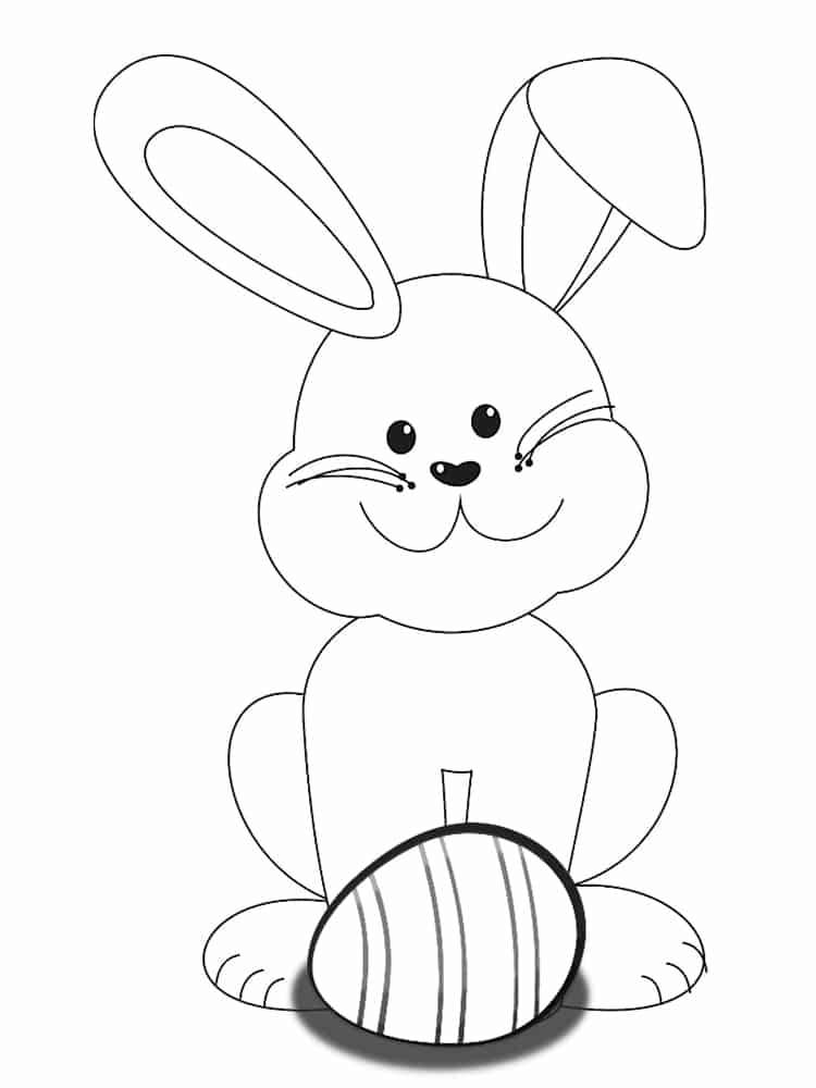 Coloriage lapin paque - Coloriages lapins ...