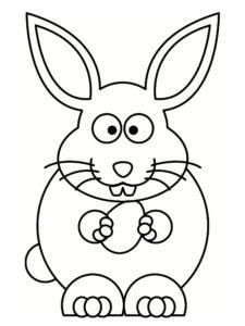 dessin lapin de paques