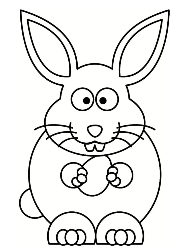 Coloriage Lapin de Pâques : 20 coloriages à imprimer gratuitement