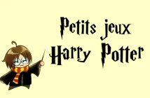 Jeux anniversaire Harry Potter