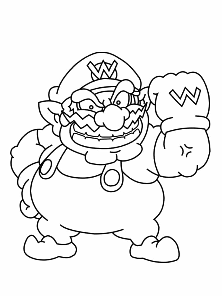 Coloriage Mario à imprimer : des dessins gratuits du jeu vidéo