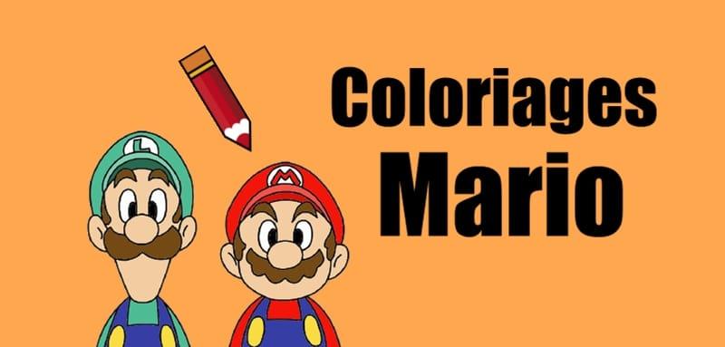 Coloriage Mario à Imprimer Des Dessins Gratuits Du Jeu Vidéo