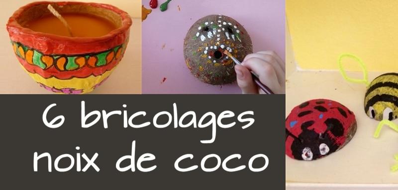 Activité manuelle avec noix de coco