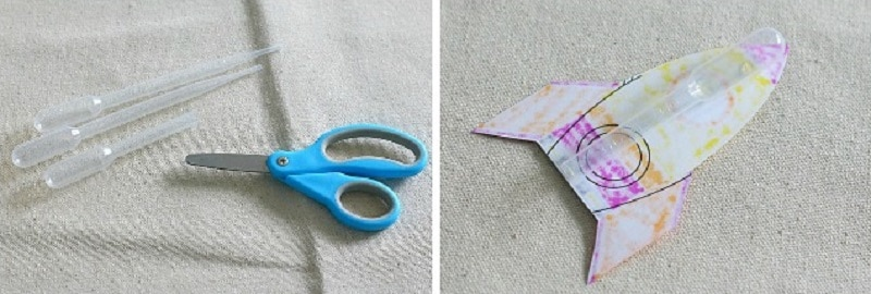 bricolage fusée papier