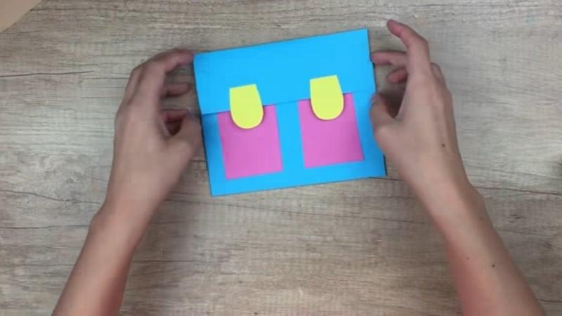 Faire un cartable en papier une id e simple et originale - Dessin d un cartable ...