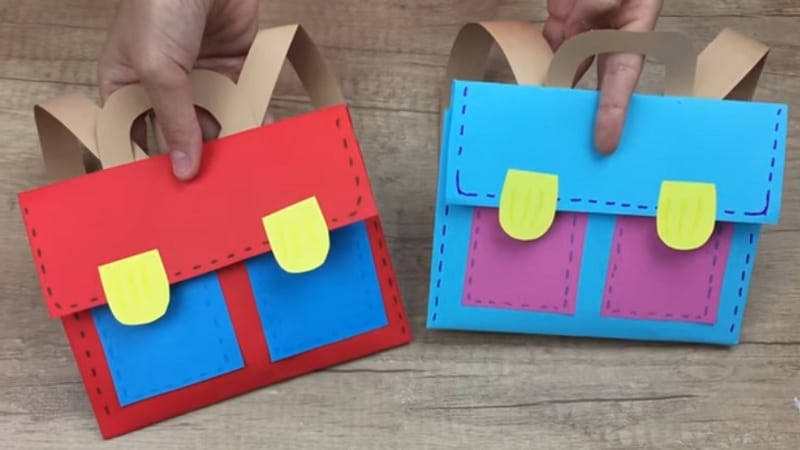 fabriquer un cartable en papier