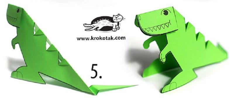 Dinosaure En Papier à Imprimer Un Modèle Original