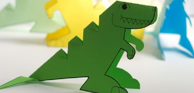 Dinosaure en papier imprimer un mod le original - Modele dessin dinosaure ...