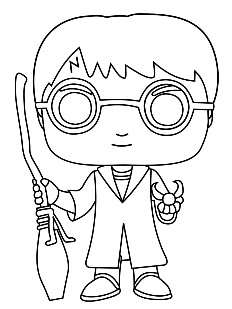 Coloriage Harry Potter.Coloriage Harry Potter Des Dessins Uniques A Imprimer Gratuitement