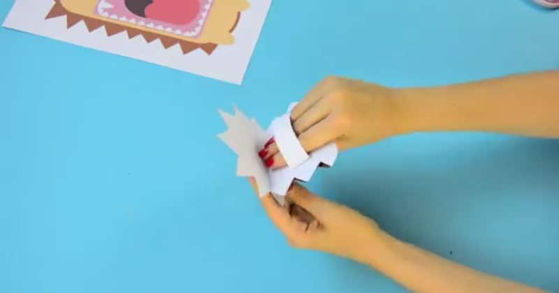 tutoriel marionnette hérisson en papier