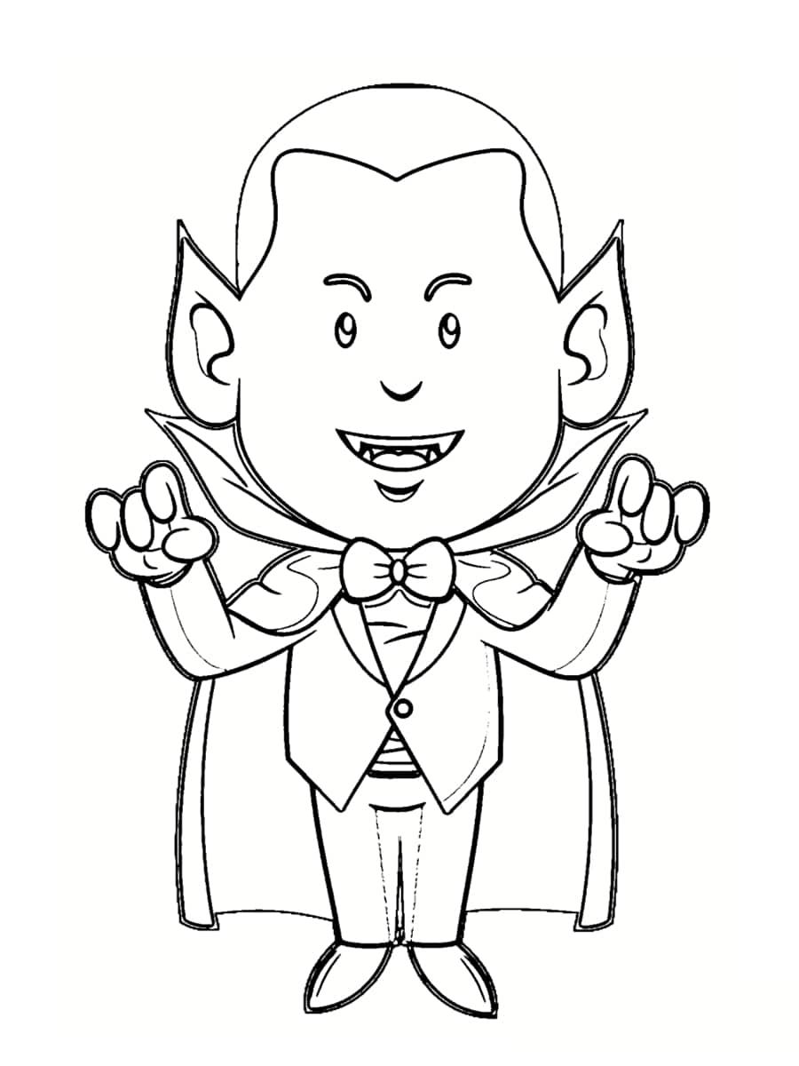 Coloriage vampire : 36 dessins à imprimer gratuitement
