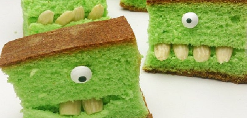 gateau monstre vert