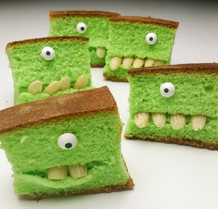 gateaux monstre vert