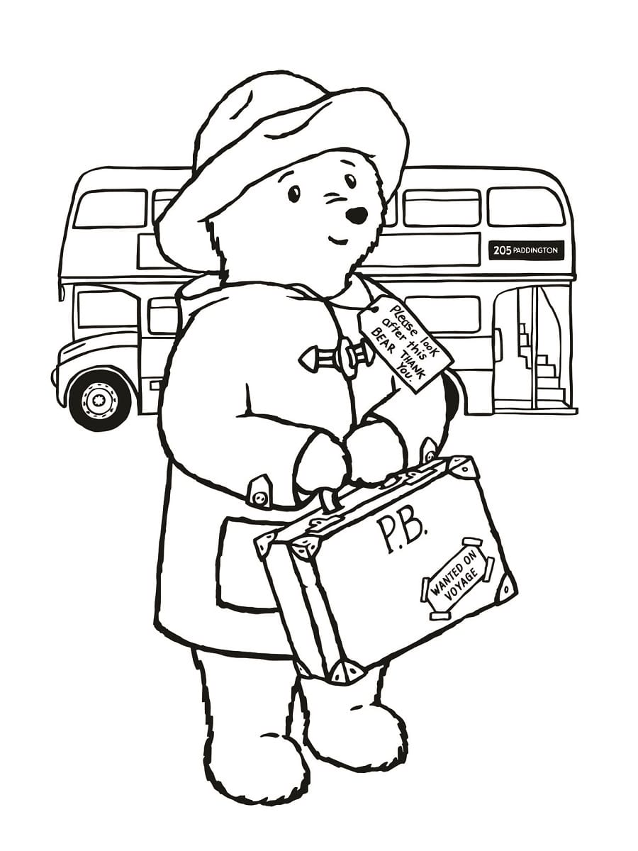 Coloriage Paddington 22 Dessins à Imprimer Gratuitement