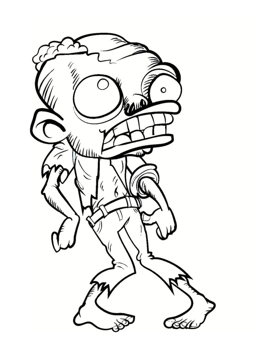 Coloriage zombie des coloriages imprimer gratuitement - Coloriage de om ...