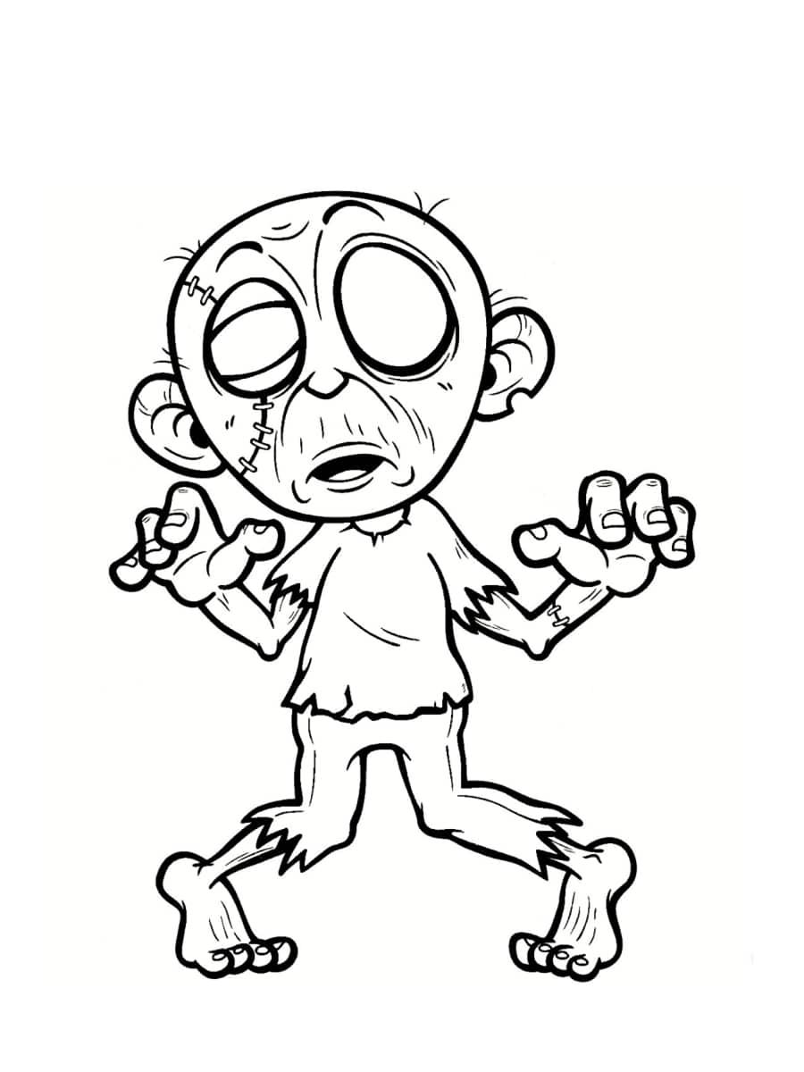 Coloriage zombie : des coloriages à imprimer gratuitement