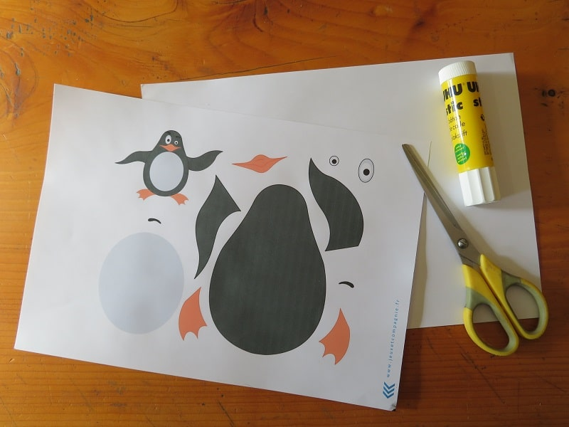 faire un pingouin en papier