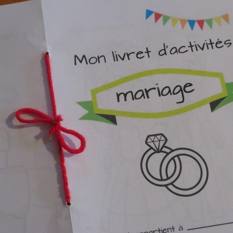 livret de mariage pour les enfants t l charger et imprimer. Black Bedroom Furniture Sets. Home Design Ideas