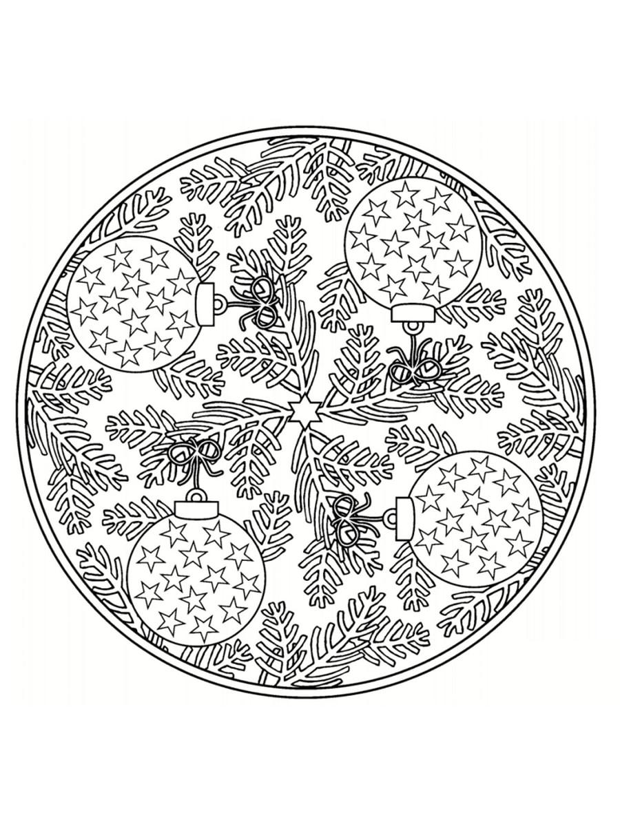 Coloriage Mandala De Noël 30 Dessins à Imprimer