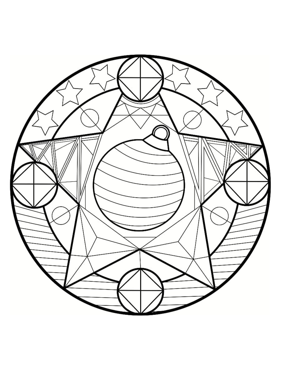 dessin mandala noel