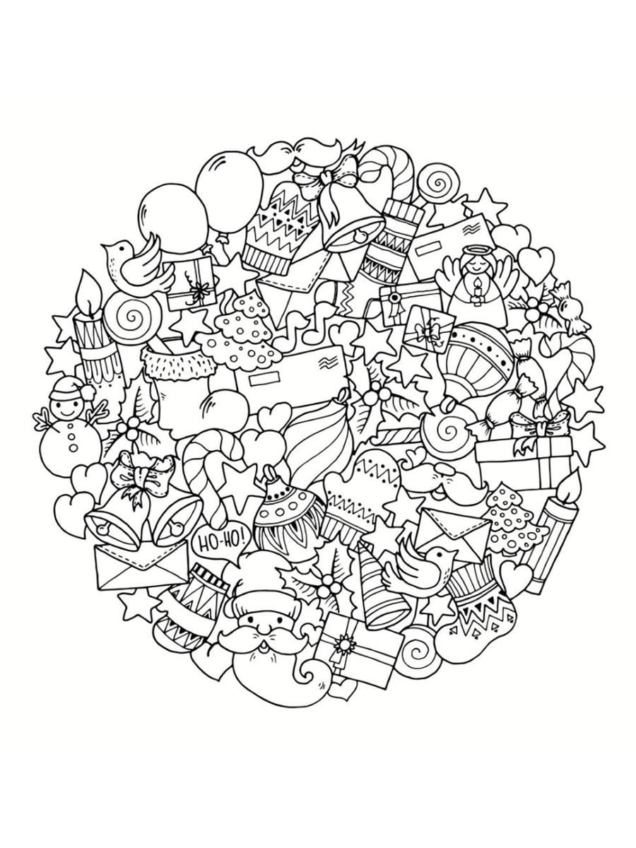 Coloriage Mandala Noel.Coloriage Mandala De Noel 30 Dessins A Imprimer