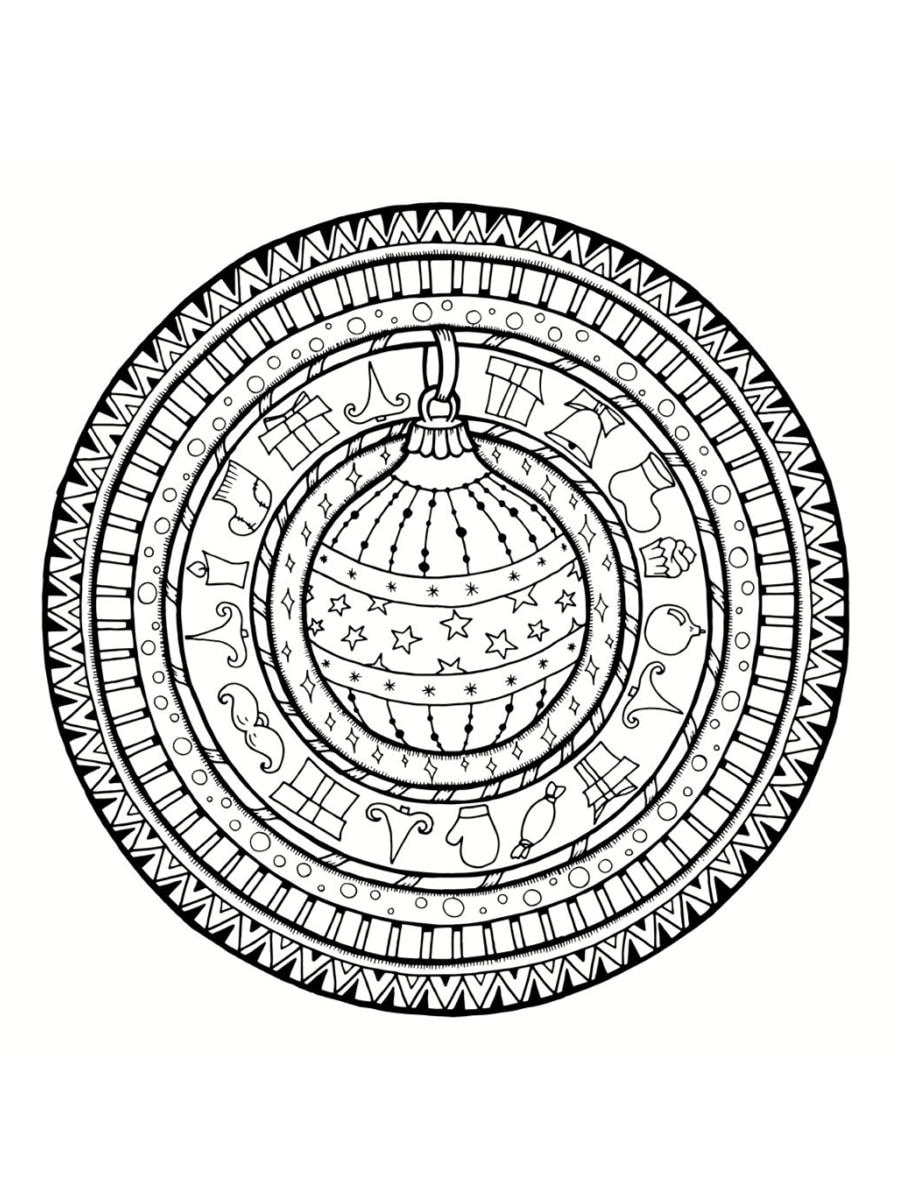 Coloriage Mandala De Noel 30 Dessins A Imprimer