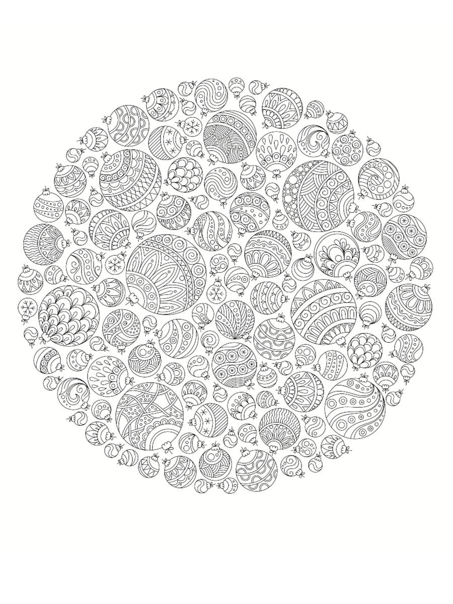 coloriage mandala de noël