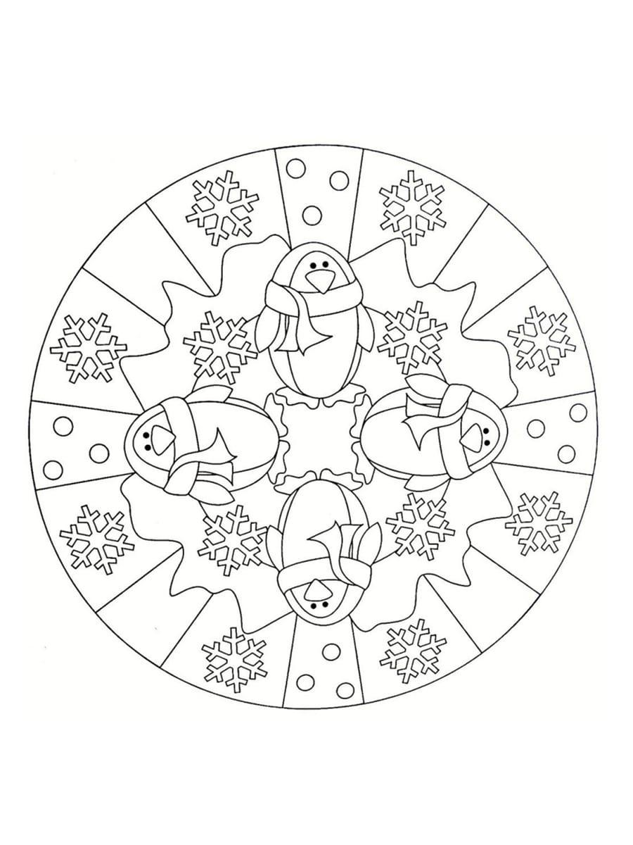 dessin de mandala de noel