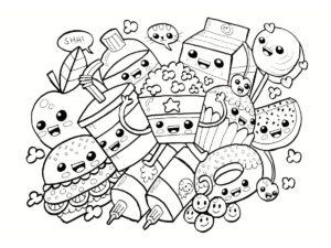 Coloriage Kawaii Nourriture 15 Dessins A Imprimer
