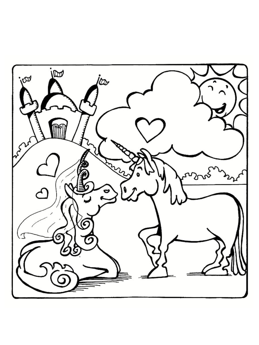 saint valentin coloriages