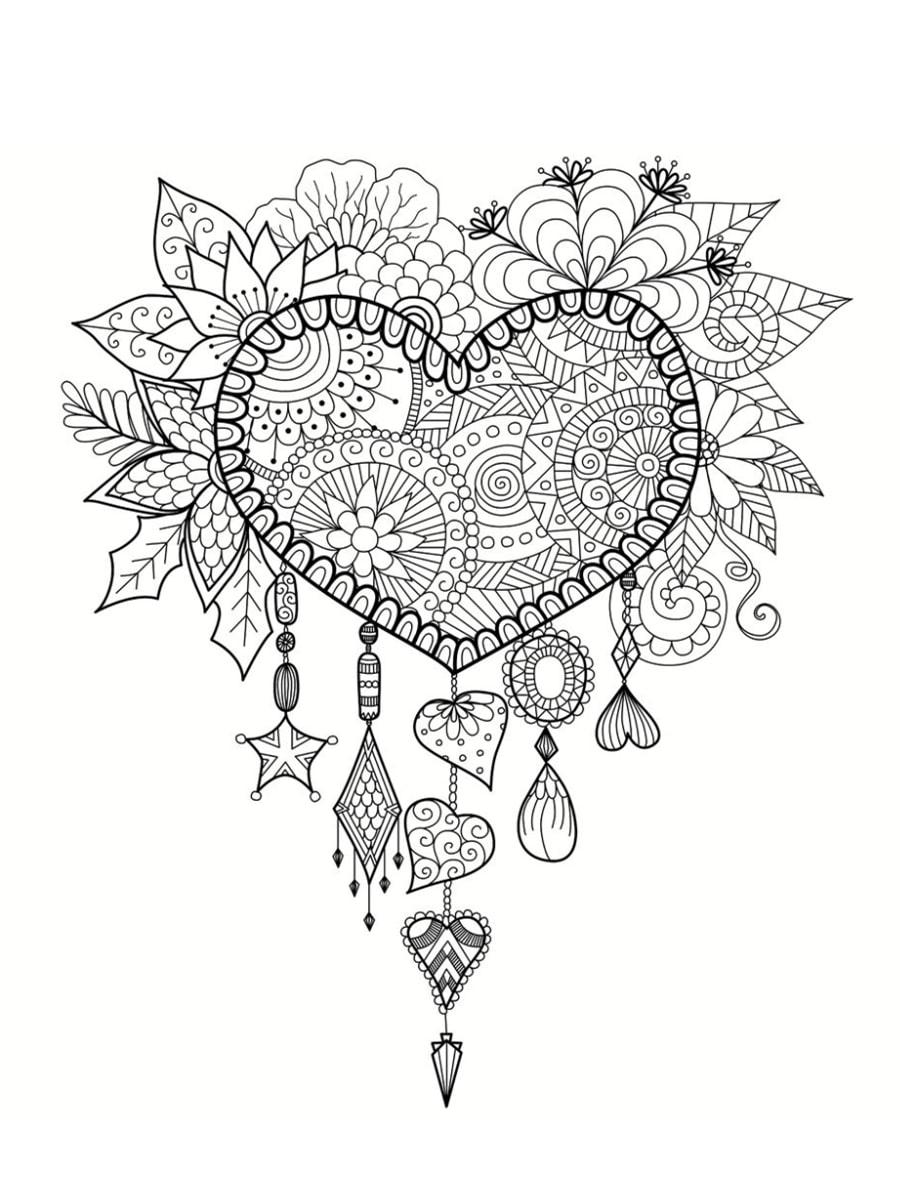 coloriage saint valentin 40 dessins imprimer gratuitement. Black Bedroom Furniture Sets. Home Design Ideas