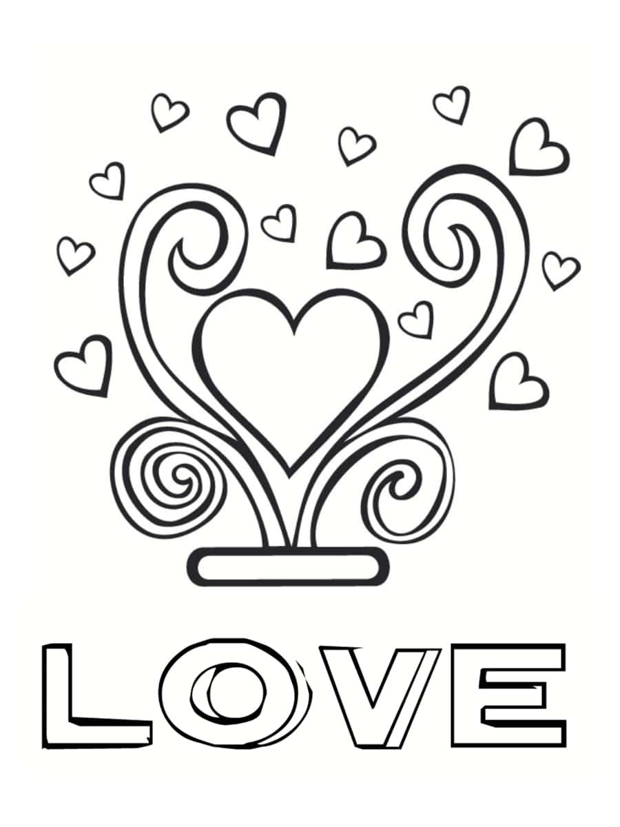 coloriage love