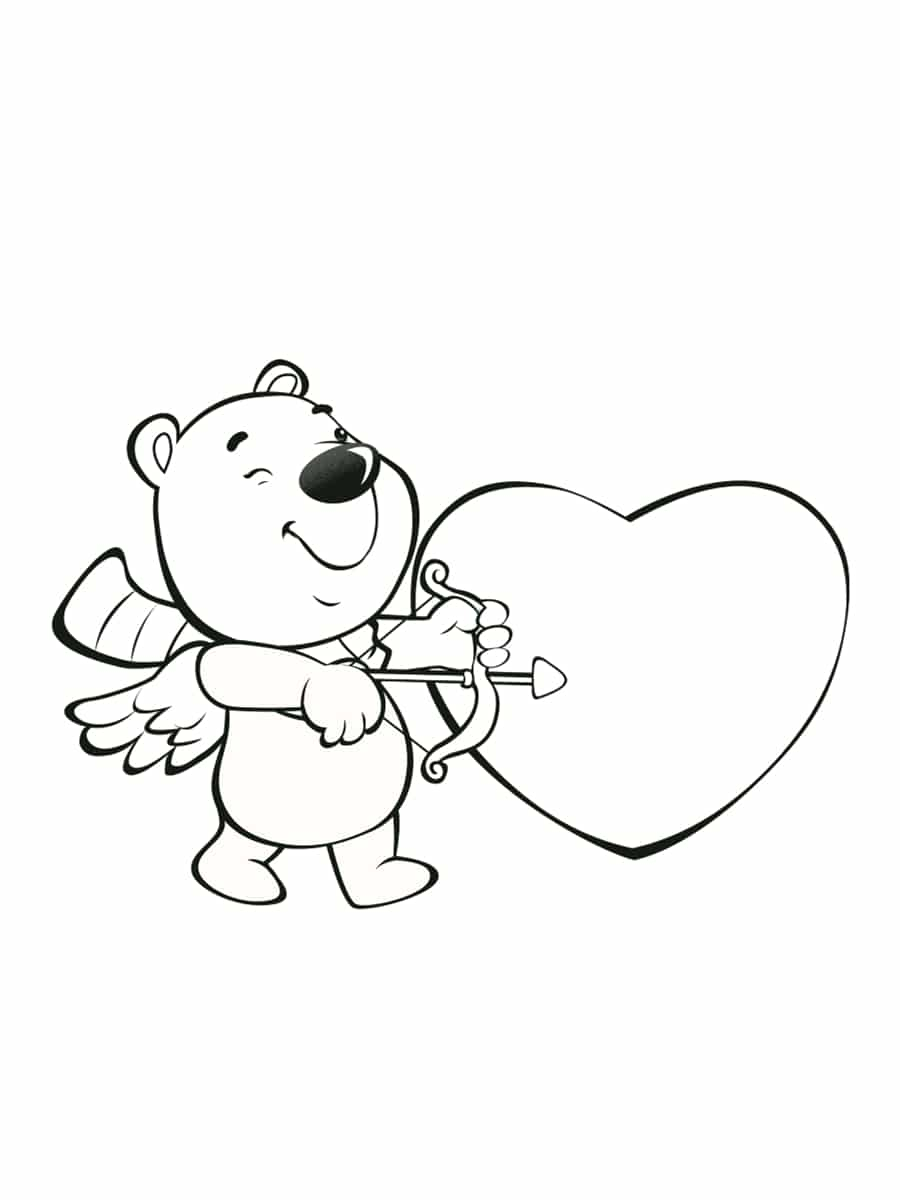 saint valentin coloriage